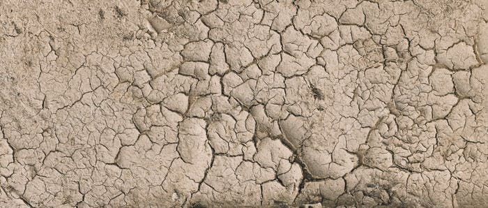 Background Of Brown Dry Cracked Soil Dirt Or Earth During Drought. Dry Cracked Earth Depicting