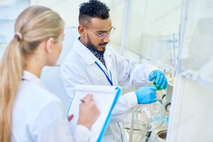 Young Scientists in Medical Laboratory