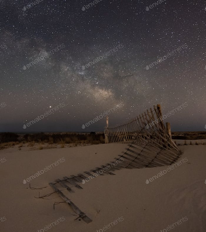 Milky Way over the Beach