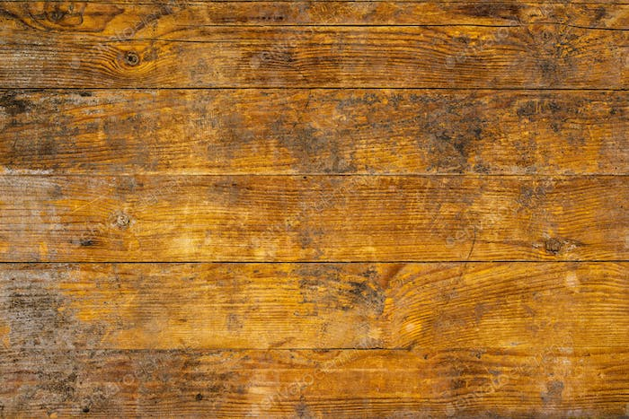 Background and texture of weathered ywllow wooden planks