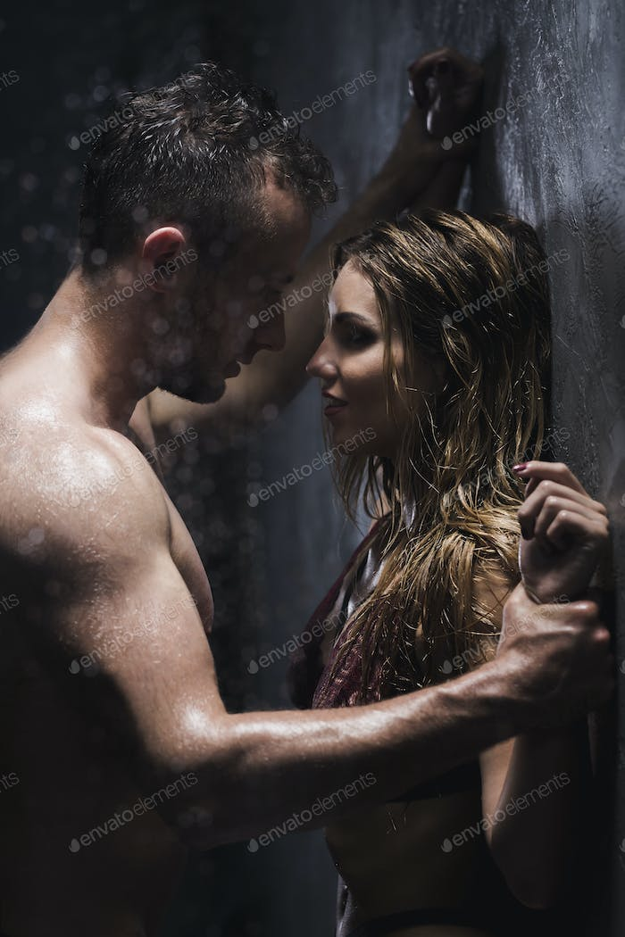 Foreplay under the shower