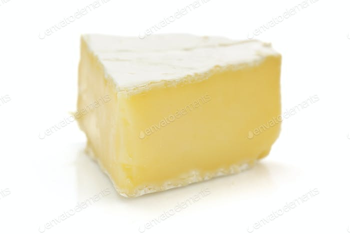 piece of cheese cheese isolated on white