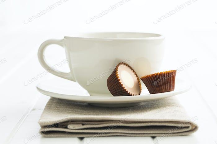 Sweet chocolate pralines.