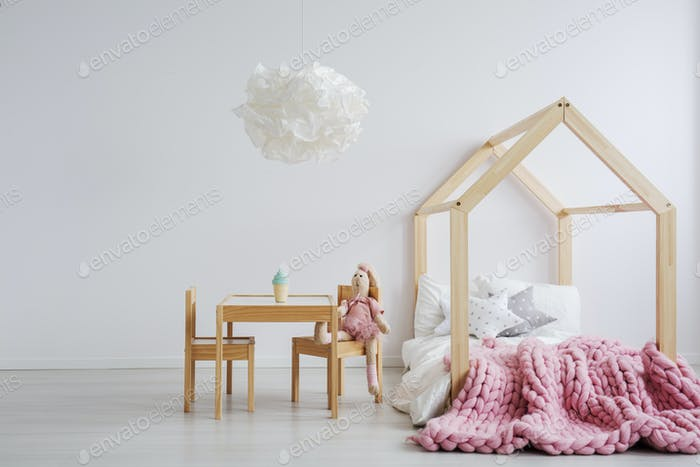 Wooden furniture for girl's room