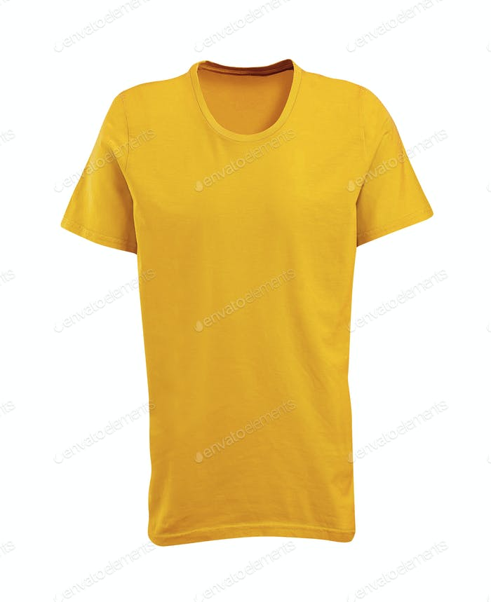 Yellow shirt isolated