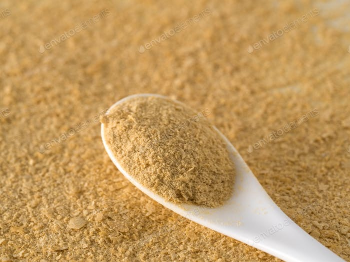 Nutritional inactive yeast top view