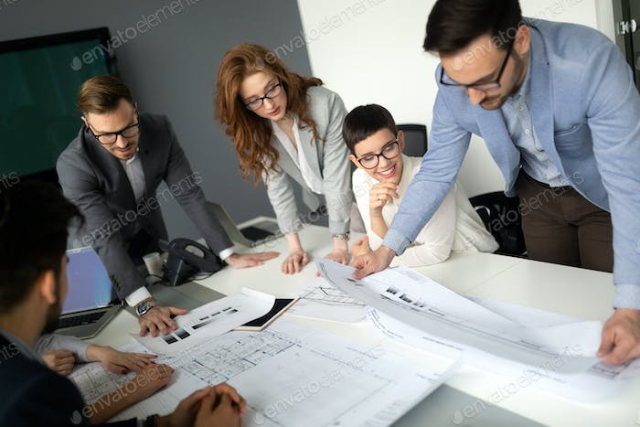 Group of business people collaborating in office