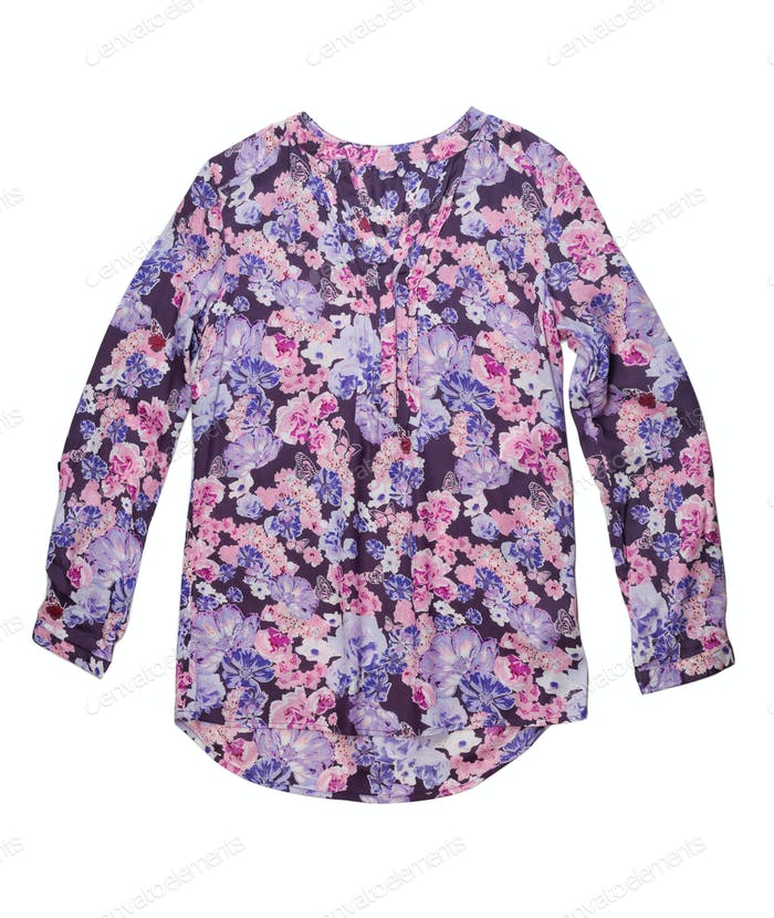 ladies blouse with floral pattern