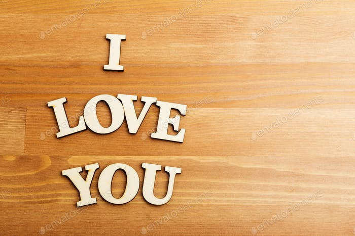 I Love You wooden letters