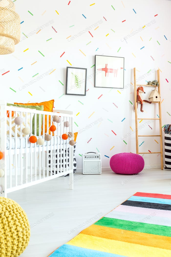Child bedroom with cot
