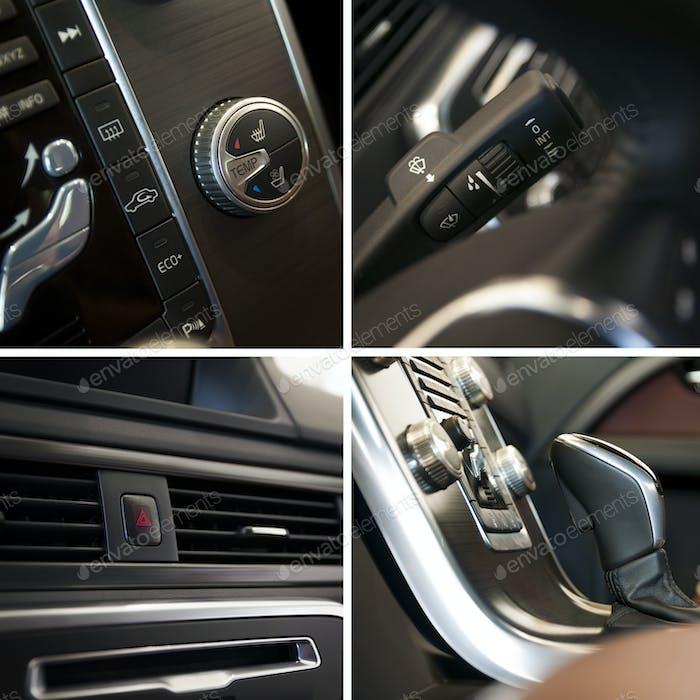 Autoinnenraum-Collage