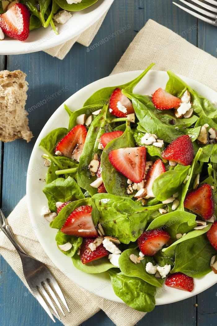 Organic Healthy Strawberry Balsamic Salad