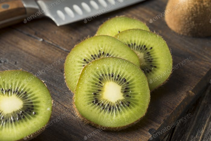 Raw Organic Brown and Green Kiwi