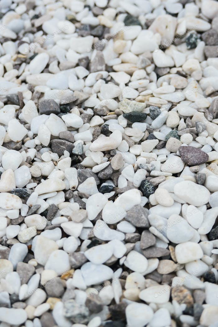 white and gray decorative pebbles for landscape design