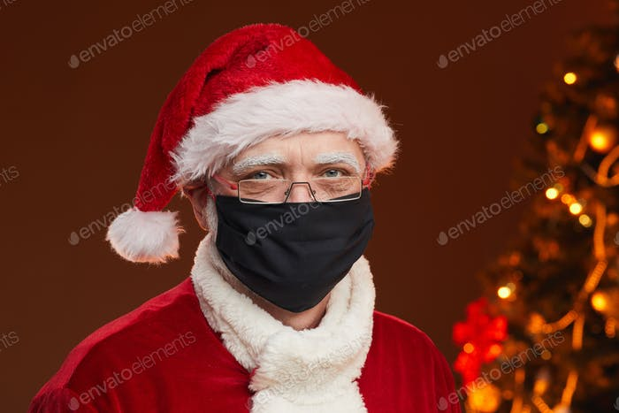 Santa Claus in mask