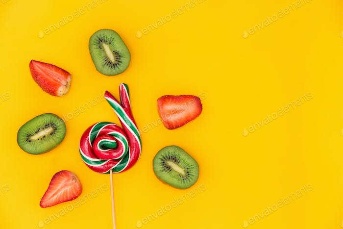 The colorful candies background