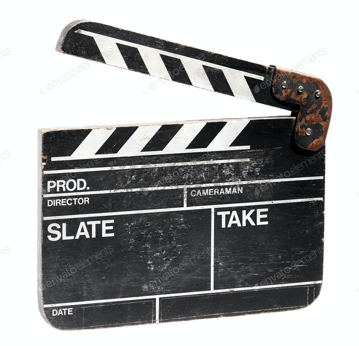 Vintage blank movie clap board