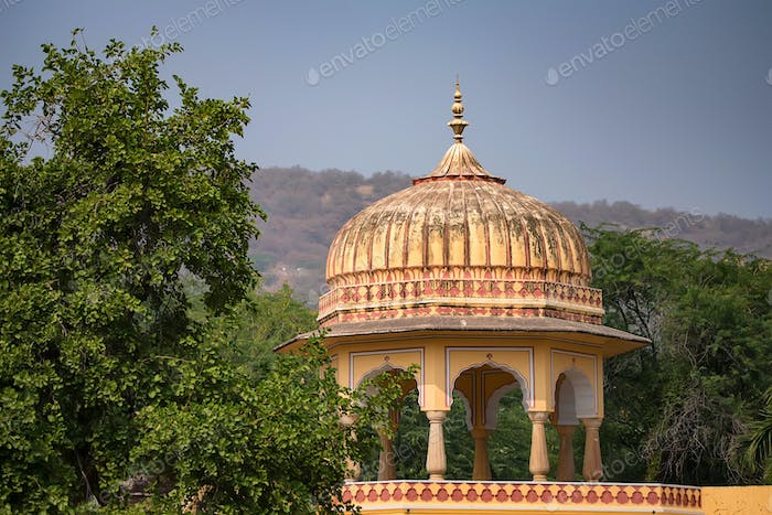 Tower of beautiful Indian style palace