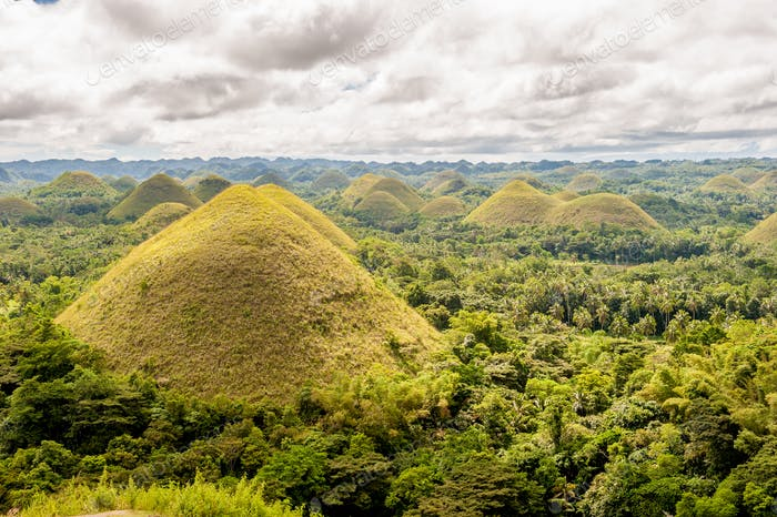 Chocolate hills landscape at Philippines