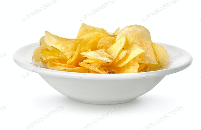 Chips in a plate