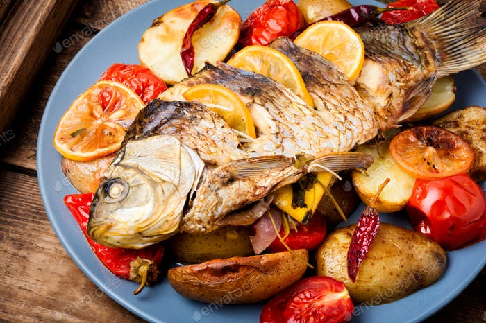 Grilled delicious fish