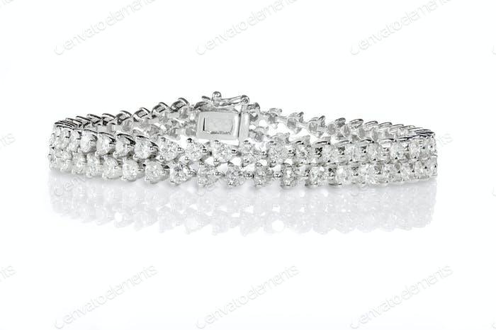 Doppelreihiges Diamant-Armband