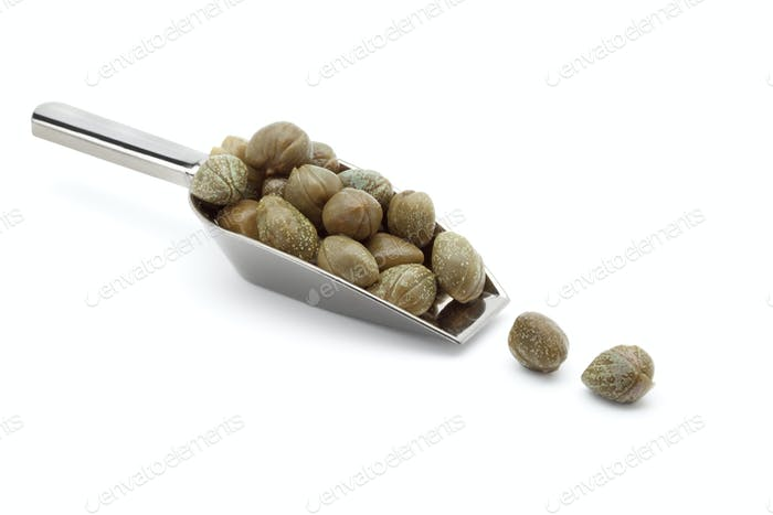 Spoon with capers