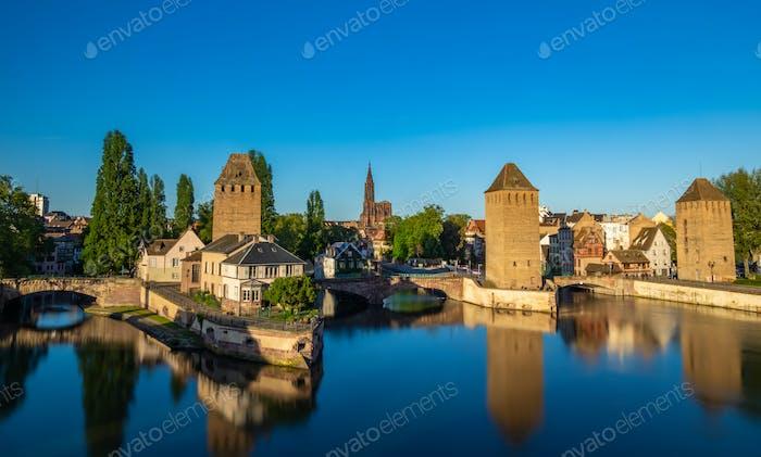 """Touristengebiet """"Petite France"""" in Straßburg, Frankreich"""