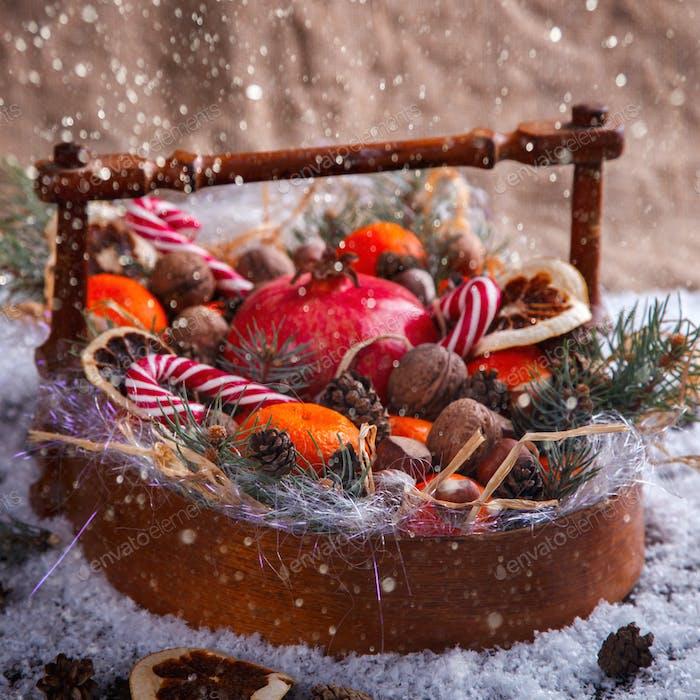 Weihnachten Neujahr Zusammensetzung