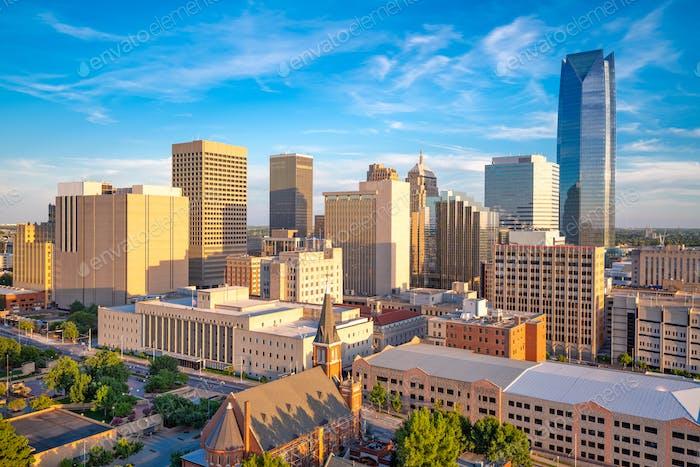 Oklahoma City, Oklahoma, USA Downtown Cityscape