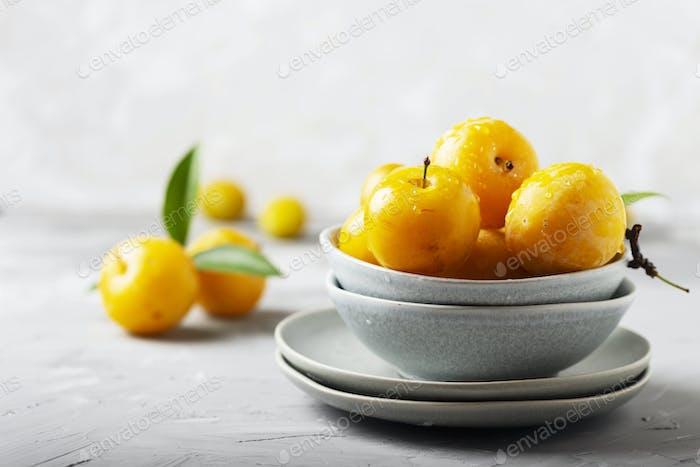 Yellow sweet plums