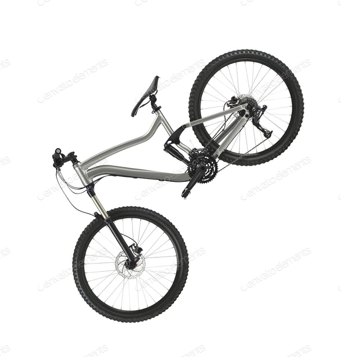 hardtail mountain bike isolated on white background