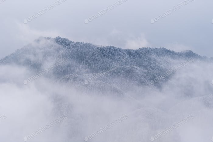 winter background in mountains
