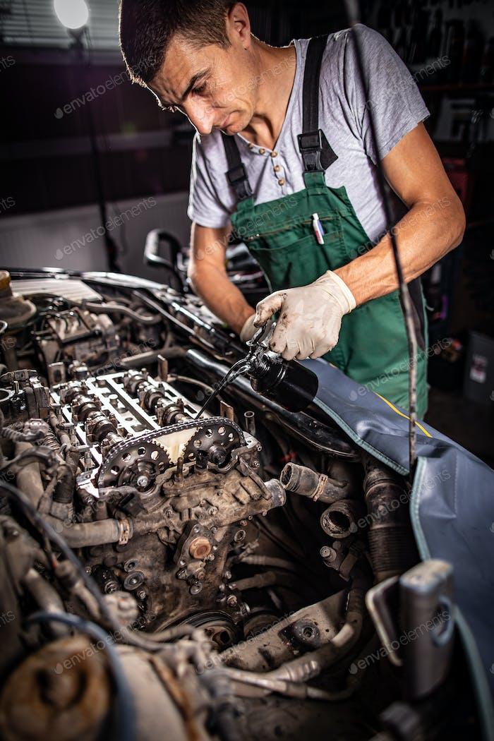 Concepto de servicio de reparación