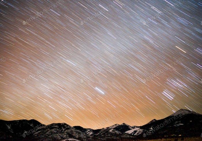 Bonneville Salt Flats Graham Peak Night Sky Mountain Range
