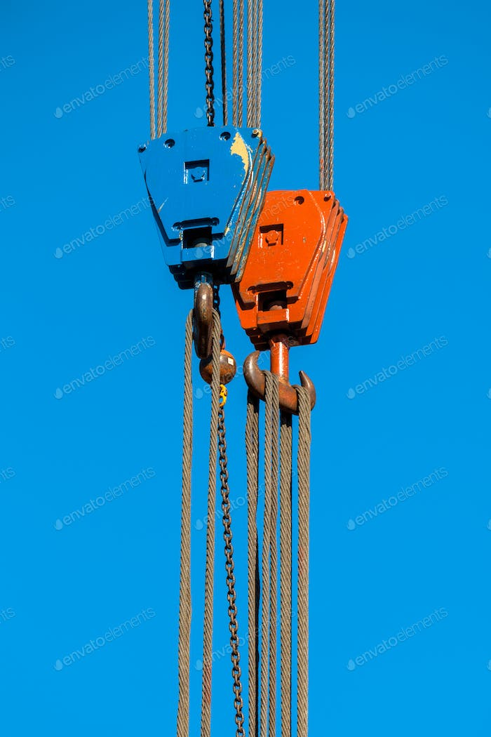 Two Crane Lifting Hooks