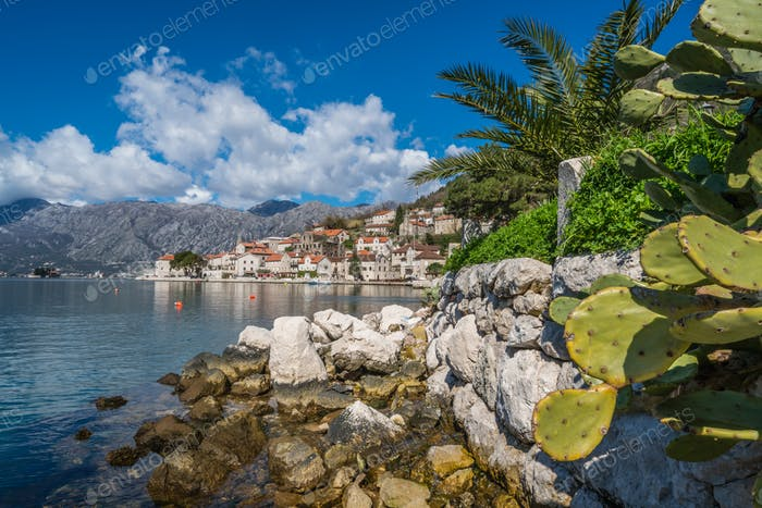 Perast town in the Kotor Bay