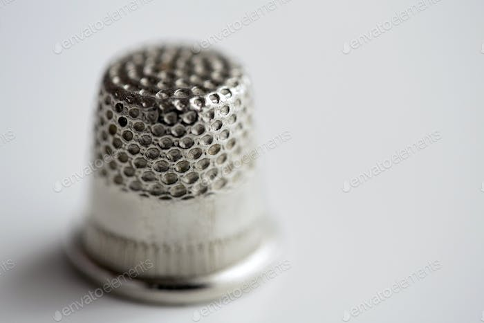 close up of thimble