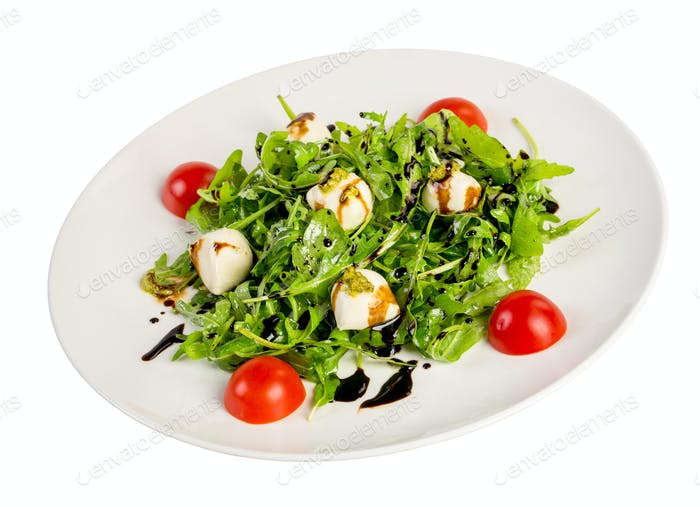 Salad from eruca and cheese