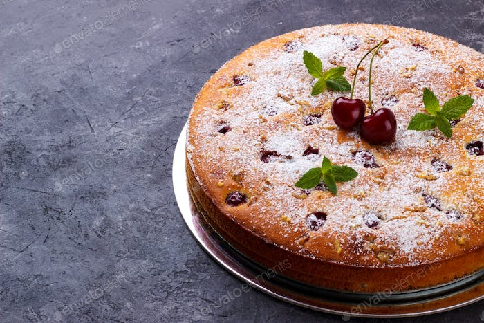 Home made cherry cake