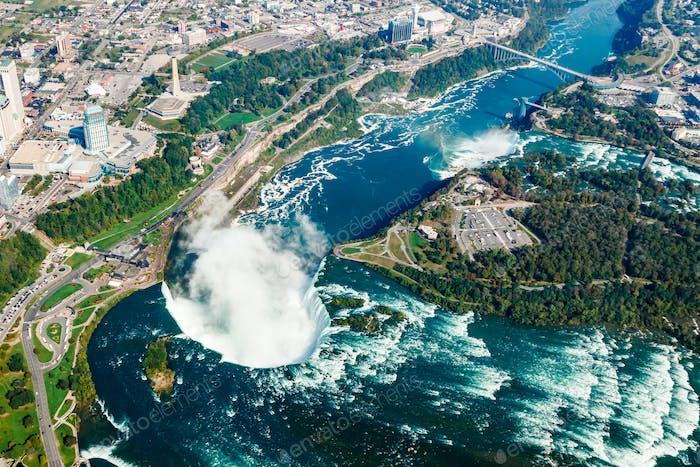 Fantastic aerial views of the Niagara Falls, Ontario, Canada