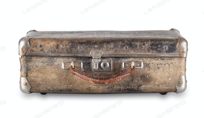 Old worn suitcase
