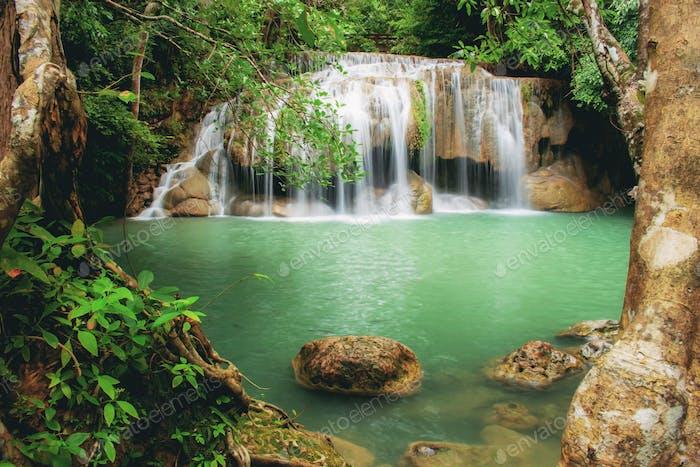 Erawan waterfall of Thailand