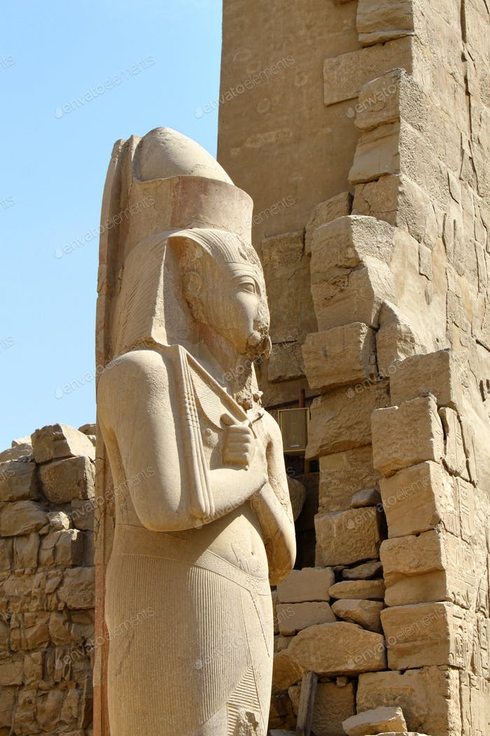 Statue of pharaoh Ramses II situated at Karnak Temple, Luxsor, Egypt