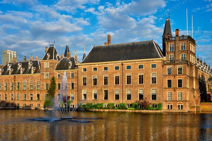 Hofvijver See und Binnenhof, Den Haag