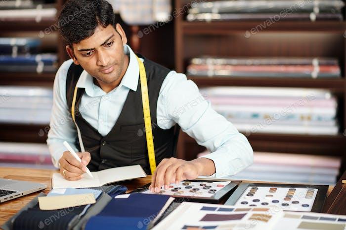 Tailor choosing catalog