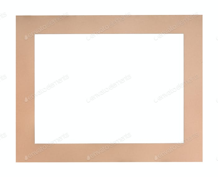flat peach colored passe-partout for picture frame