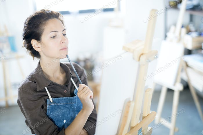 Thinking while painting