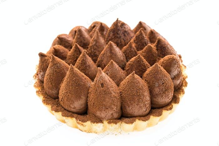 Chocolate tart dessert