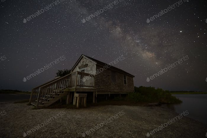 Milky Way over a Shack
